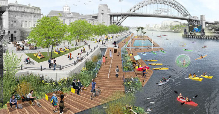 Bold plans for Newcastle's riverside